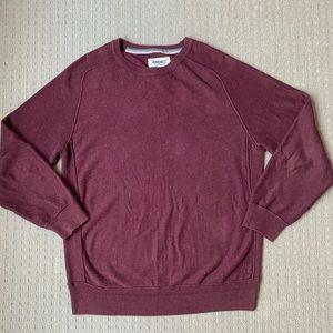 Jeanswest men maroon cotton knit sweater jumper M